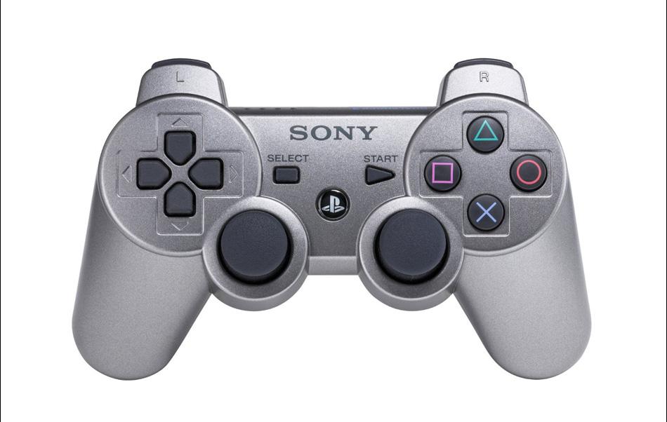 Игры, консоли и манипуляторы. Геймпад беспроводной SONY Dualshock3 для PS3, цвет сер
