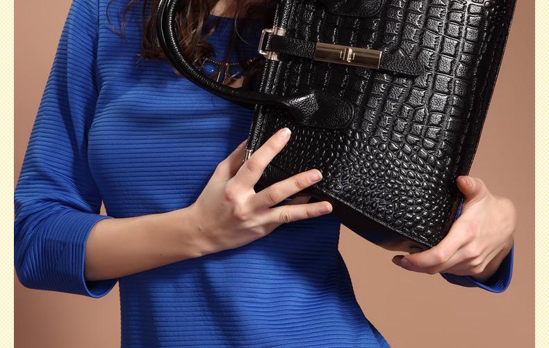 ZoolerThe new fashion leather handbag crocodile grain ladies handbags Fashion mom bag leather shoulder bag for free shipping