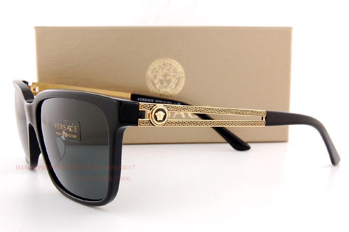 cd73aaf9a8 Brand New VERSACE Sunglasses VE 4307 GB1 87 BLACK GRAY for Men  8053672273021