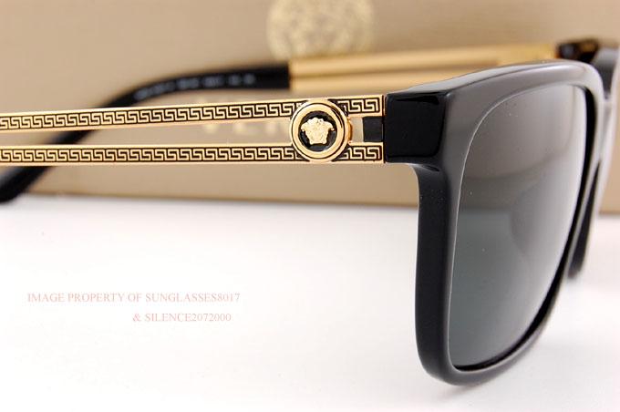 Versace VE4307-GB1//87 BLACK grey 58 mm Men/'s Sunglasses