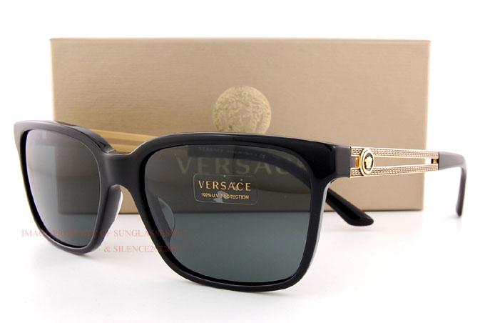 50761147b2 Brand New VERSACE Sunglasses VE 4307 GB1 87 BLACK GRAY for Men ...